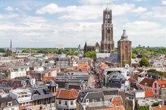 乌得勒支鸟瞰图,荷兰 免版税库存图片