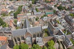 乌得勒支,荷兰鸟瞰图  免版税图库摄影