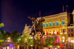 乌得勒支 女孩的雕塑马的 免版税库存照片