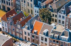 乌得勒支 空中城市视图 免版税库存照片