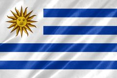 乌拉圭旗子 库存照片