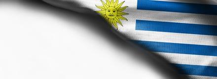 乌拉圭的旗子白色背景的- 库存图片