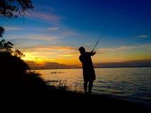从乌拉圭的渔夫 免版税库存图片