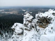 乌拉尔山脉, Polyud, Vishera,俄罗斯 库存照片