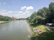 乌拉尔河在奥伦堡 免版税库存照片
