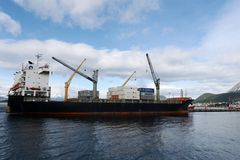 乌斯怀亚海港-最南端的城市在世界上 库存图片