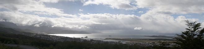 乌斯怀亚,南美,阿根廷,巴塔哥尼亚,火地群岛 库存照片