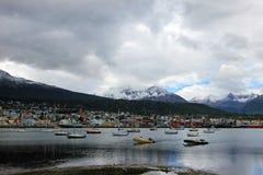 乌斯怀亚,火地群岛,阿根廷港口  免版税库存图片