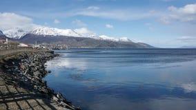 乌斯怀亚,阿根廷,巴塔哥尼亚风景看法  免版税库存图片