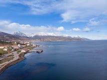 乌斯怀亚,阿根廷,巴塔哥尼亚风景看法  免版税库存照片