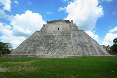 乌斯马尔玛雅废墟在尤加坦,墨西哥 免版税库存图片