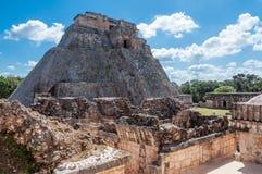 乌斯马尔玛雅废墟,墨西哥 图库摄影