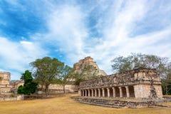 乌斯马尔,墨西哥废墟  图库摄影