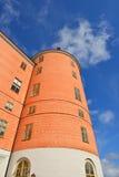 乌普萨拉城堡塔 免版税库存图片