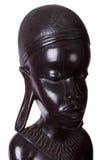 从乌木木头雕刻的非洲妇女 图库摄影