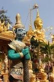 乌汶叻差他尼Wat Tai寺庙,泰国- 2015年1月1日:Wat Tai 库存照片