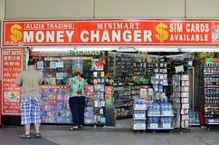 乌节路的,新加坡货币兑换商商店 库存图片