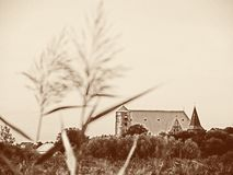 乌贼属定了调子韦尔登县阿列尔,下萨克森州,德国大教堂的图象  免版税图库摄影