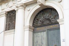 乌迪内的历史中心的细节 免版税库存照片