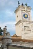乌迪内的历史中心的细节 库存照片