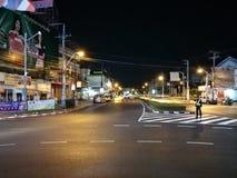 乌隆他尼,泰国午夜街道 库存照片