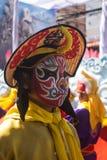 乌隆他尼,泰国泰国12月-5 2017年父亲节,在乌隆他尼寺庙每年金黄龙,狮子期间的中国龙 免版税库存图片
