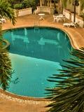 乌隆他尼,泰国2月24,2019:旅馆的游泳场 库存照片