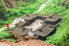 乌龙石灰岩地区常见的地形世界自然遗产,重庆,中国 免版税图库摄影