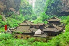 乌龙石灰岩地区常见的地形世界自然遗产,重庆,中国 免版税库存照片