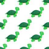 乌龟动物海洋绿色自然野生生物海水下的爬行动物传染媒介无缝的样式背景例证 向量例证