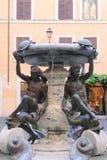 乌龟喷泉在罗马 免版税库存照片