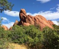 乌龟岩石红色岩层 库存图片