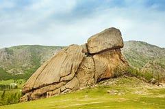 乌龟岩石蒙古 免版税库存照片