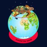 乌龟旅行环球 免版税库存照片