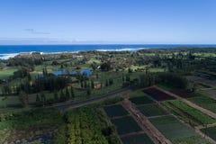 乌龟海湾手段夏威夷天线图象 库存图片