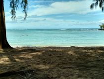 乌龟海滩,夏威夷 图库摄影