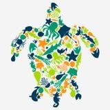 乌龟的传染媒介例证 免版税图库摄影