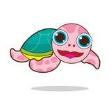乌龟逗人喜爱的动画片 免版税图库摄影