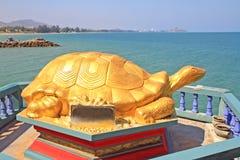 乌龟雕象 免版税库存照片