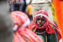乌代浦,印度, 2010年9月14日:年轻男孩罪孽画象  图库摄影