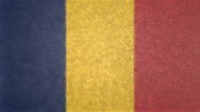 乍得的旗子的原始的3D图象 向量例证