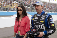 NASCAR Sprint杯机工长乍得Knaus 免版税库存图片