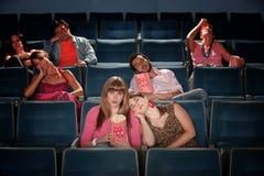 乏味人在剧院 免版税库存图片