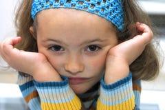 乏味儿童纵向 免版税库存照片