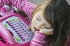 乏味儿童计算机 图库摄影