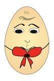 乏味动画片鸡蛋 免版税图库摄影