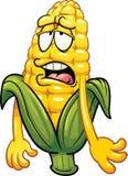 乏味动画片玉米 库存例证