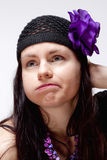 乏味和不快乐少妇看 免版税库存图片