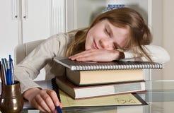 乏味家庭作业 免版税库存照片