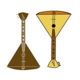 乐器俄式三弦琴 库存照片